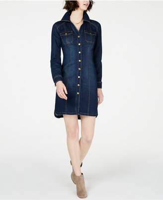 INC International Concepts I.n.c. Petite Denim Shirtdress