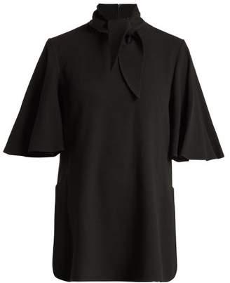 Ellery Salvador Neck Tie Crepe Blouse - Womens - Black
