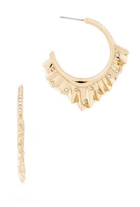 Alexis Bittar Crystal Encrusted Pleated Hoop Earrings $135 thestylecure.com