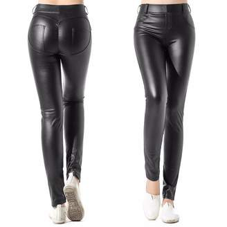 26f5bef66079d1 CFR Lady Women's Fashion Faux Leather Jeggings High Waist Leggings Pants  Black,S USPS Post