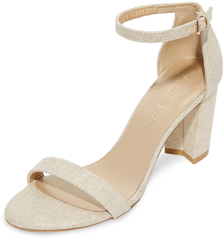 Stuart Weitzman Nearlynude Sandals $398 thestylecure.com