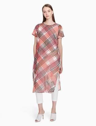 Calvin Klein printed short sleeve long tunic