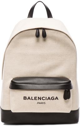 Balenciaga Navy Backpack $1,335 thestylecure.com