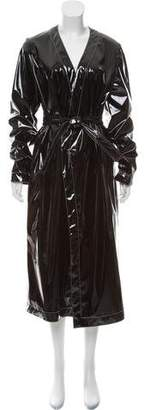 ATTICO Long Patent Leather Coat w/ Tags
