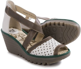 Fly London Ynes Wedge Sandals - Leather (For Women) $69.99 thestylecure.com