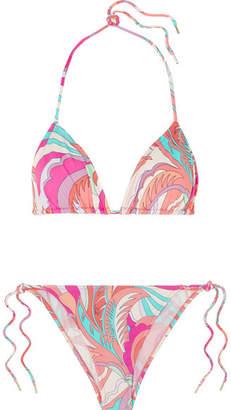 Emilio Pucci Printed Bikini - Fuchsia