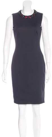 Alexander McQueen Alexander McQueen Embellished Sheath Dress