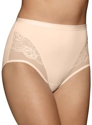 Vanity Fair Smoothing Comfort Mesh & Lace Brief Panty 13267 $14 thestylecure.com