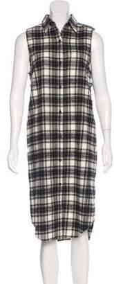 Jenni Kayne Plaid Button-Up Dress