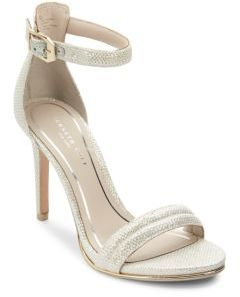 Brooke Glitter Ankle Strap Sandals $130 thestylecure.com