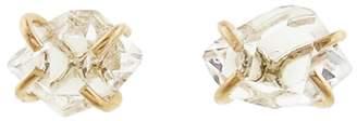 Melissa Joy Manning Herkimer Diamond Stud Earrings - Yellow Gold