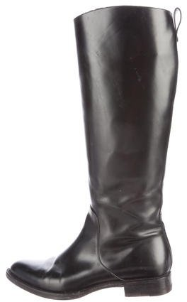 Louis Vuitton Leather Knee-High Boots