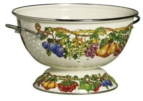 Tabletops Unlimited Kensington Garden Porcelain Enamel 5 Qt Colander