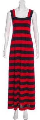 Michael Kors Striped Sleeveless Maxi Dress