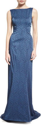Zac Posen Patterned Column Gown, Beluga $3,490 thestylecure.com