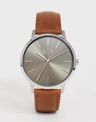 AX2708 Cayde leather watch 42mm