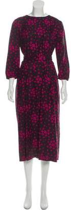 Vanessa Seward Silk Printed Dress