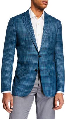Kiton Men's Two-Tone Check Two-Button Jacket