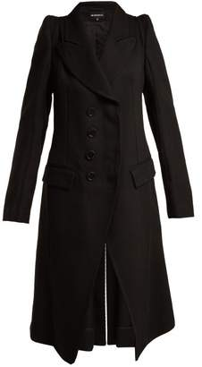 Ann Demeulemeester Priestley Exaggerated Shoulder Wool Coat - Womens - Black