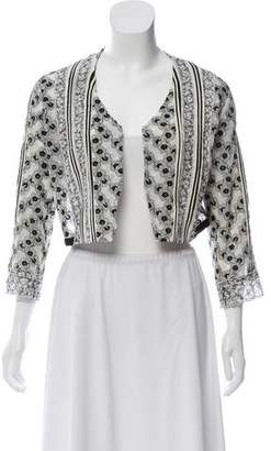 Mayle Cropped Embellished Crop Cardigan
