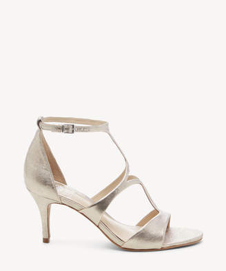 Vince Camuto Women's Payto Strappy Sandals Rose Silver Size 5 Leather From Sole Society