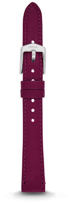 Fossil 14mm Raspberry Leather Watch Strap