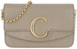 Chloé C Clutch With Cahin Motty Grey
