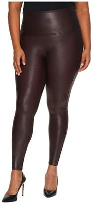 Spanx Plus Size Faux Leather Leggings Women's Clothing