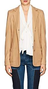 Xo Barneys Colombo Women's Cashmere-Silk Fitted Three-Button Blazer - Camel