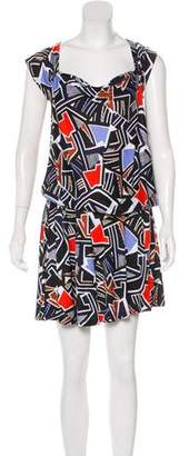 Diane von Furstenberg Printed Knee-Length Dress