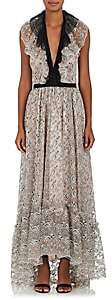 Philosophy di Lorenzo Serafini WOMEN'S FLORAL LACE MAXI DRESS - PINK SIZE 44 IT
