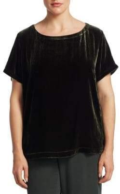 Eileen Fisher, Plus Size Plus Velvet Bateau Top