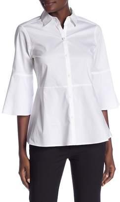 Foxcroft 3/4 Sleeve Estelle Button Down Shirt