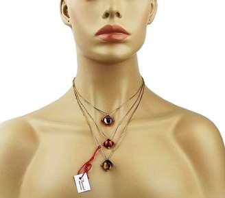 Baccarat Jewelry Vermeil 24k Gold Pltd Silver Medicis Triple Necklace New Box