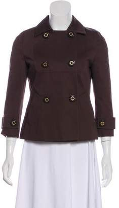 Tory Burch Double-Breasted Lightweight Jacket