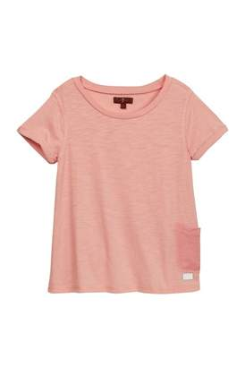 7 For All Mankind Garment Dyed Pocket Tee (Big Girls)