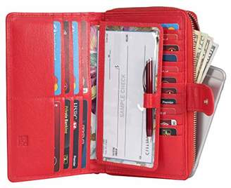 Mou Meraki Women RFID Blocking Real Leather Wallet-Clutch For Women-Shield Against Identity Theft