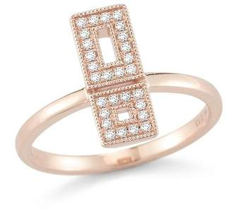 DANA REBECCA 14K Rose Gold Allison Joy Diamond Ring - Size 6 - 0.13 ctw