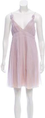 Prada Pleated Mini Dress