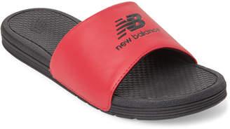 New Balance Red & Black Logo Pro Slide Sandals