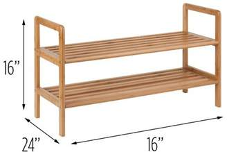 Honey-Can-Do 2-Shelf Bamboo Shoe Rack