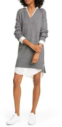Brochu Walker Looker Layered Long Sleeve Wool & Cashmere Sweater Dress