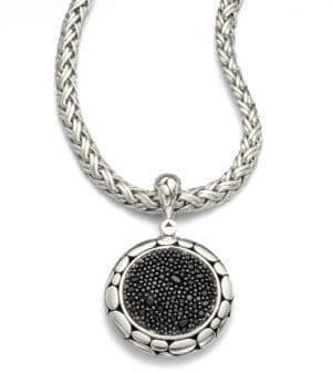 John Hardy Kali Black Sapphire& Sterling Silver Lava Enhancer