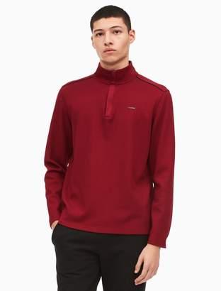 Calvin Klein regular fit jacquard quarter zip sweater