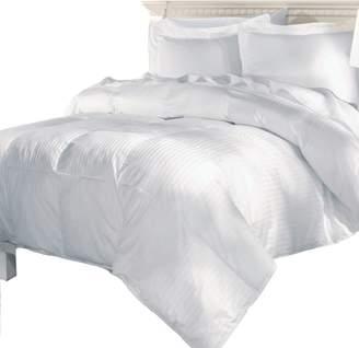 Elle Damask Stripe 500 Thread Count European Goose Down Comforter