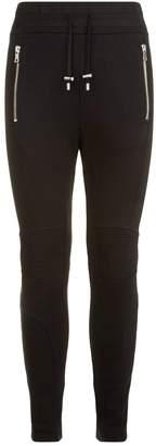 Balmain Zipped Biker Sweatpants