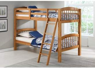 Alaterre Spindle Twin Over Twin Bunk Bed, Cinnamon