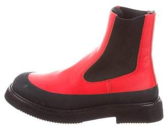 Céline Leather Round-Toe Ankle Boots w/ Tags