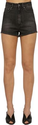 Givenchy Washed Cotton Denim Shorts