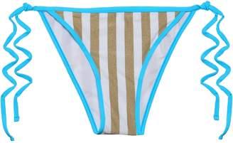 Diane von Furstenberg Metallic Striped Low-rise Bikini Briefs